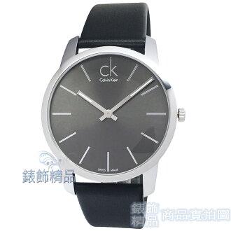 【錶飾精品】CK手錶 K2G21107 Calvin Klein 經典暢銷簡約時尚/鐵灰面黑皮帶男錶