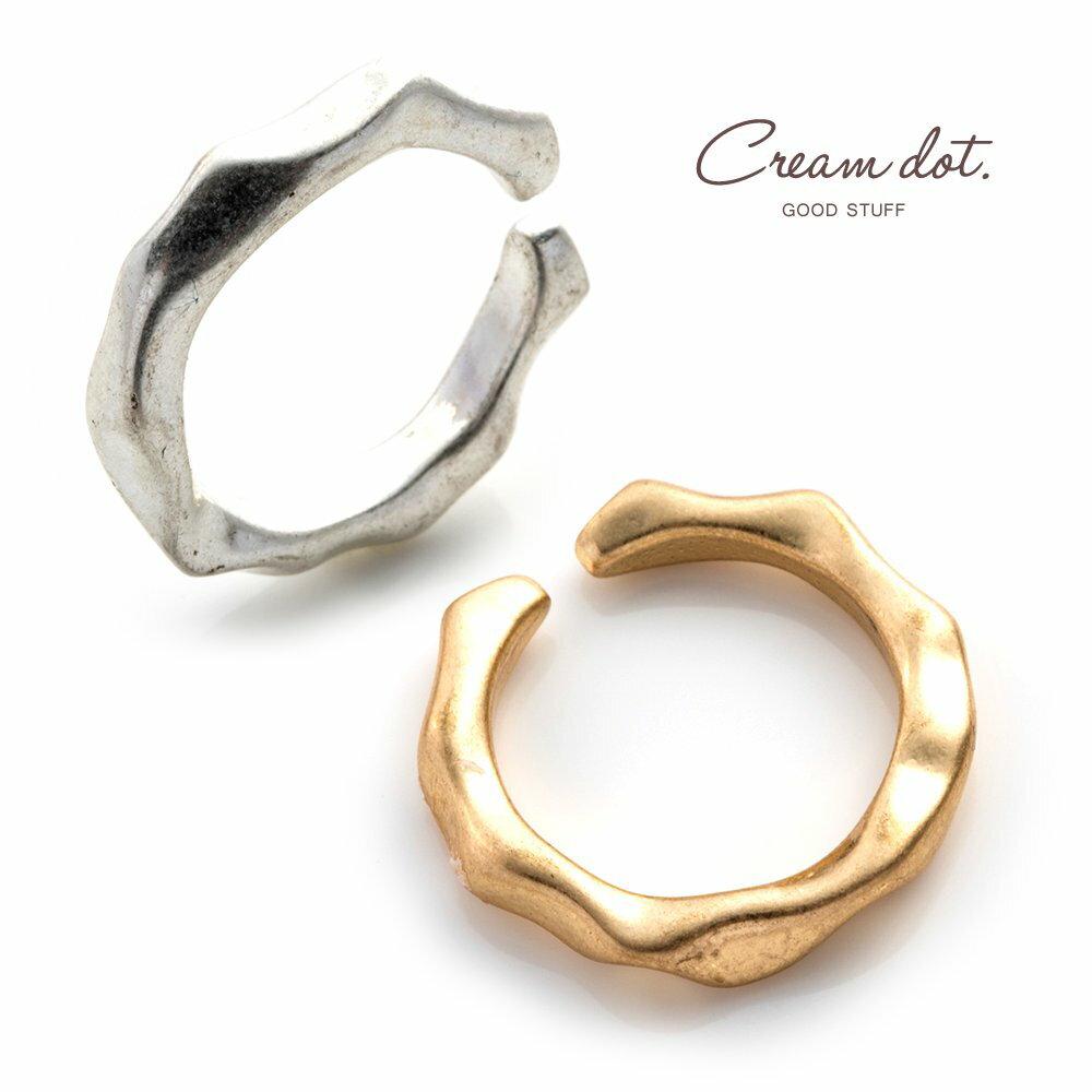 日本CREAM DOT  /  リング 指輪 金属アレルギー ニッケルフリー レディース 12号 ファッションリング クラフト調 メタル たたき加工 大人カジュアル シンプル 可愛い ゴールド シルバー  /  d00080  /  日本必買 日本樂天直送(790) 0