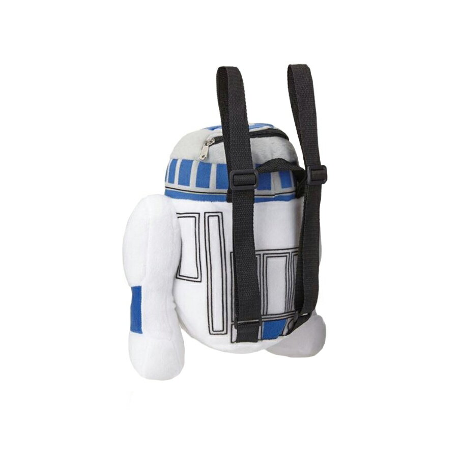 """Star Wars """"R2D2"""" Plush Backpack Kids Bag with Zipper Pouch 1"""