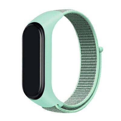 小米手環3/4尼龍錶帶皮質腕帶通用回環小米運動尼龍多彩腕帶
