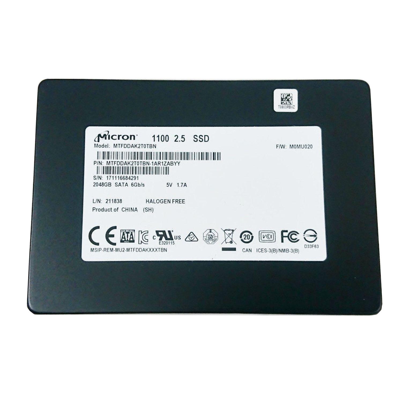 """Micron SSD MTFDDAK2T0TBN-1AR1ZABYY 2TB SATA 6Gb/s 2.5"""" Solid State Drive-OEM 3"""