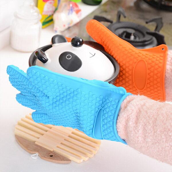 隔熱防滑矽膠五指套(一入顏色隨機出貨)