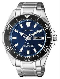 CITIZEN星辰錶NY0070-83L時尚光動能專業潛水腕錶銀藍43.5mm