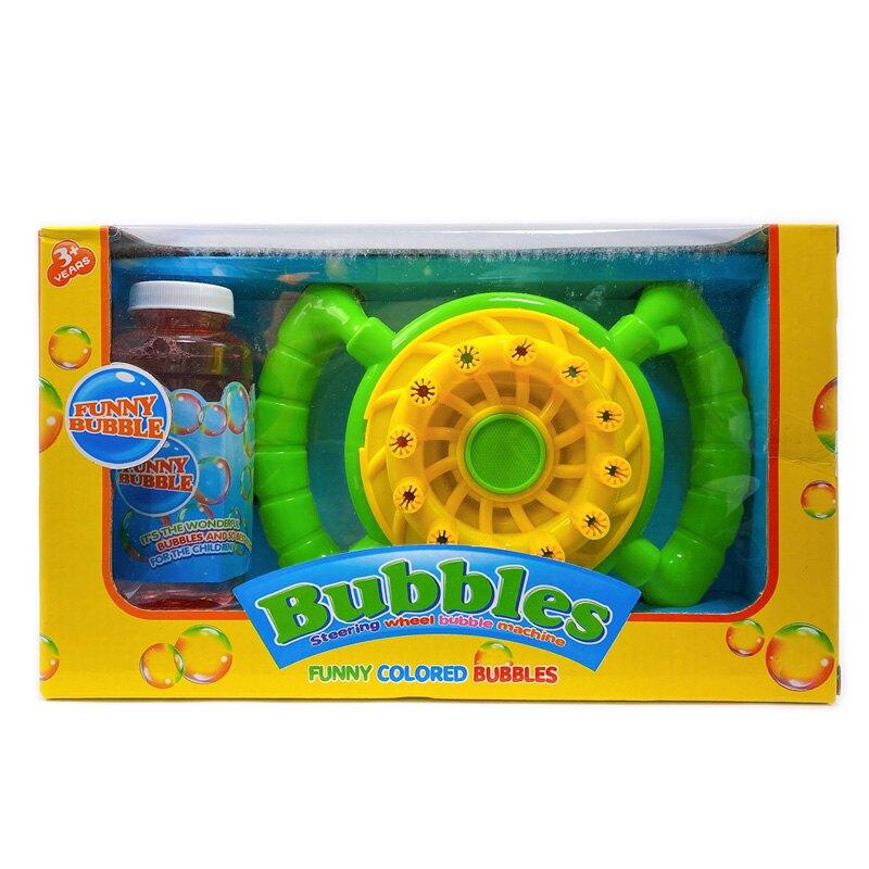12孔 方向盤電動泡泡機 (附電池)/一個入(促199) 附泡泡水 自動泡泡機 自動吹泡泡 泡泡機 一鍵出泡 海量泡泡 -CF141569