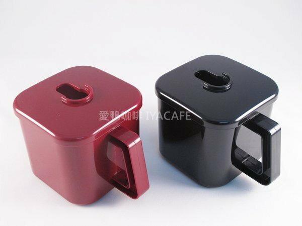 《愛鴨咖啡》小飛馬 600N 粉糟含蓋 (黑色/紅色)