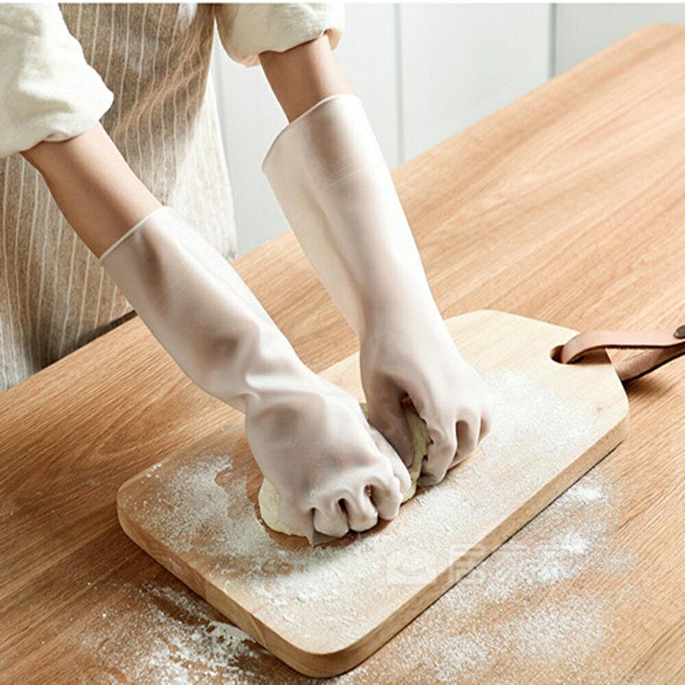 防水手套 清潔打掃用 不傷手防水家務手套廚房清潔耐用膠手套家用膠皮手套 88336 0