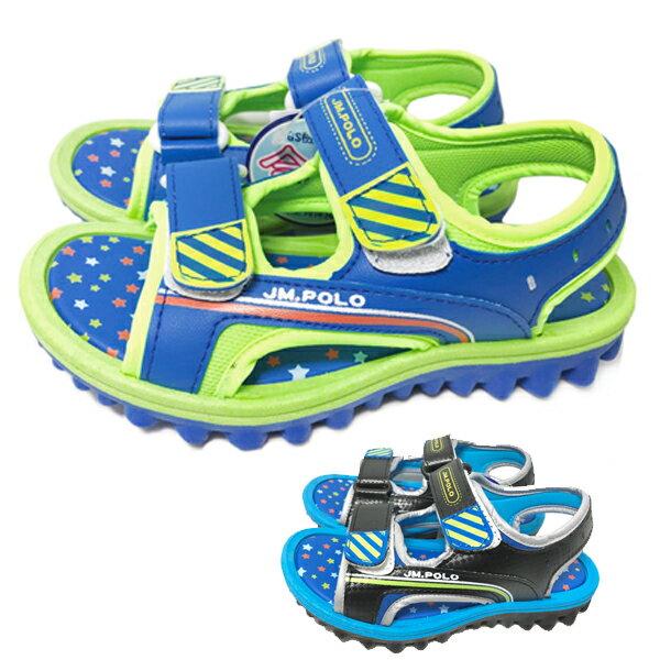 【巷子屋】童款星星底造型運動涼鞋 [18060] 兩色 MIT台灣製造 超值價$198