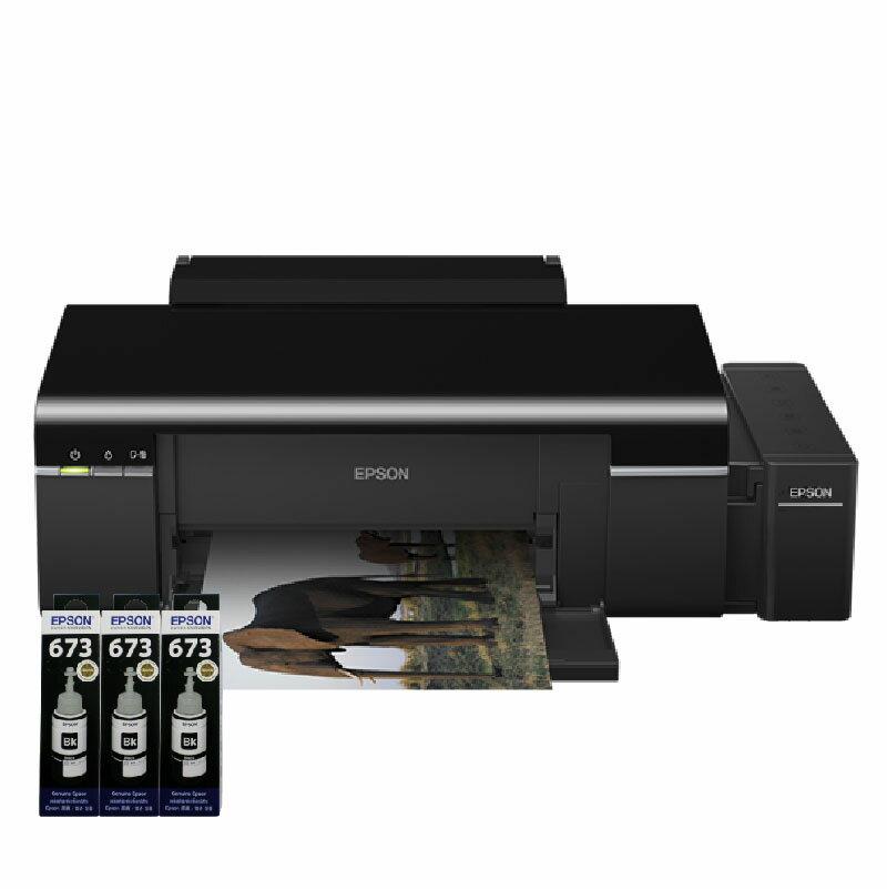 【浩昇科技】EPSON L805 六色CD無線原廠商用連續供墨印表機+T673原廠墨水三黑