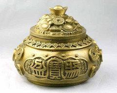 開光銅聚寶盆銅香爐