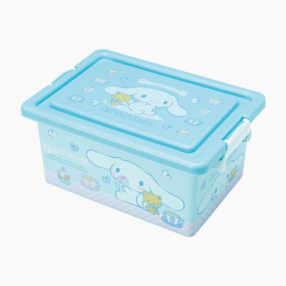【真愛日本】16091000048方形收納箱M-午茶藍三麗鷗家 喜拿狗 大耳狗 收納盒置物日用品