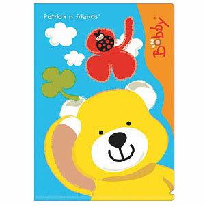 【K's Kids】L型檔案夾 (波比熊)