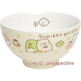 【真愛日本】16120800027角落公仔陶瓷碗-幸運草綠  SAN-X 角落公仔  碗 陶瓷 餐具 飯碗