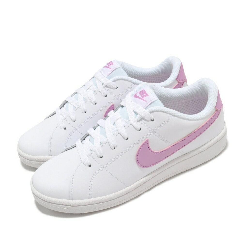 超取$499免運 ▶帝安諾-實體店面 NIKE COURT ROYALE 2 皮革 小白鞋 白粉 粉勾 CU9038-101