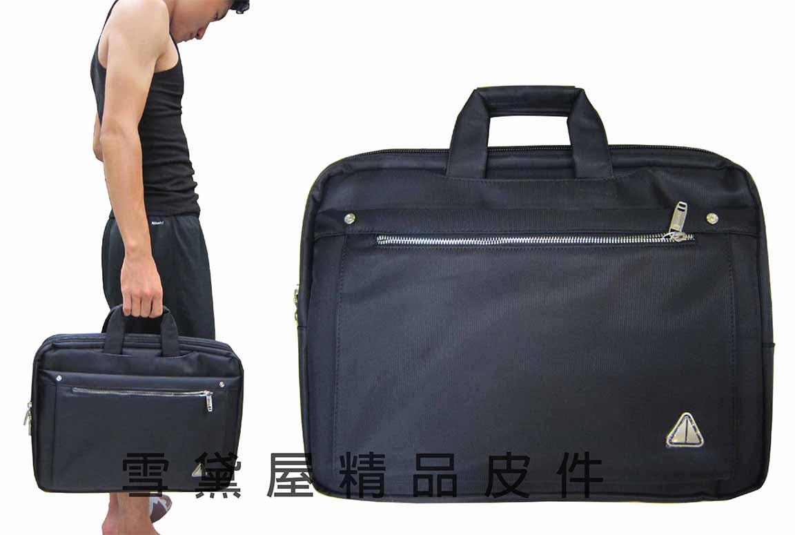^~雪黛屋^~POWER 文件包超大容量多 二層主袋防水尼龍布可A4資夾14吋電腦手提肩背