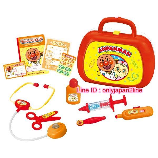 【真愛日本】16101100003醫生診療包玩具組-麵包超人    電視卡通 麵包超人 細菌人 兒童玩具 正品 限量