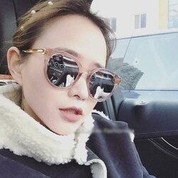 50%OFF SHOP【J022389GLS】2017新款潮流方框太陽眼鏡 百搭韓版墨鏡時尚炫彩太陽眼鏡網紅