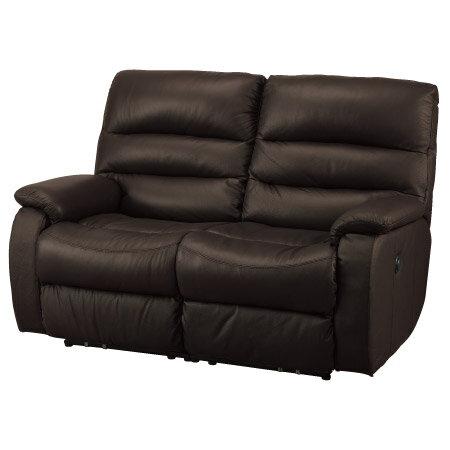 ◎全皮2人用頂級電動可躺沙發 BELIEVER2 DBR NITORI宜得利家居 1