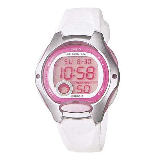 CASIO G-SHOCK LW-200-4A 小巧數位腕錶/粉色面38mm