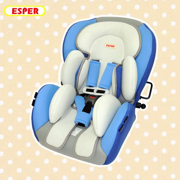 【台灣製造】成長型6段式坐臥兩用兒童汽車安全座椅 藍色