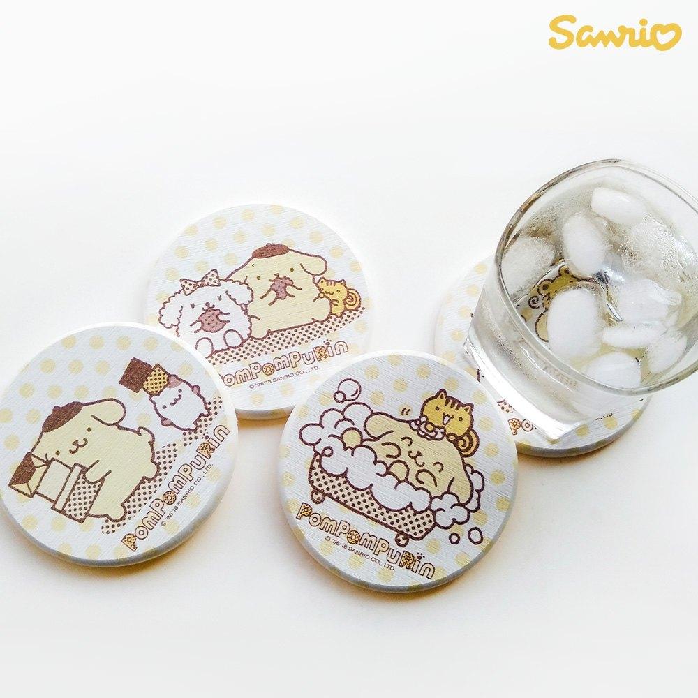 【買一送一】三麗鷗獨家授權 Sanrio 珪藻土吸水杯墊 布丁狗 Pom Pom Purin 1