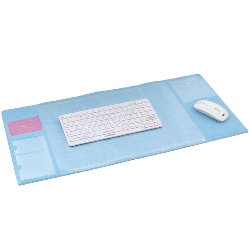 超大電腦辦公桌面多功能滑鼠墊 可收納文具與卡片 鍵盤墊 桌墊 寫字墊 台墊 鼠標墊 電腦桌墊【TA210】【618年中慶 】《約翰家庭百貨