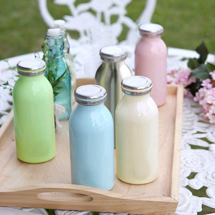 保溫瓶【KCW052】日本熱銷不鏽鋼牛奶保溫瓶350ml 大容量 牛奶瓶 保溫瓶 情人節禮物 水瓶-收納女王