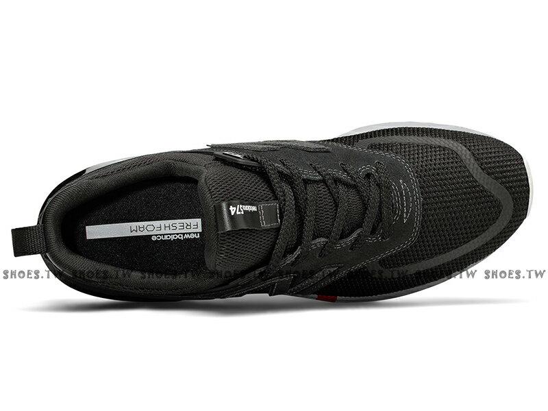 Shoestw【MS574UTB】NEW BALANCE NB574 慢跑鞋 麂皮 網布 小紅標 黑色 男生尺寸 3