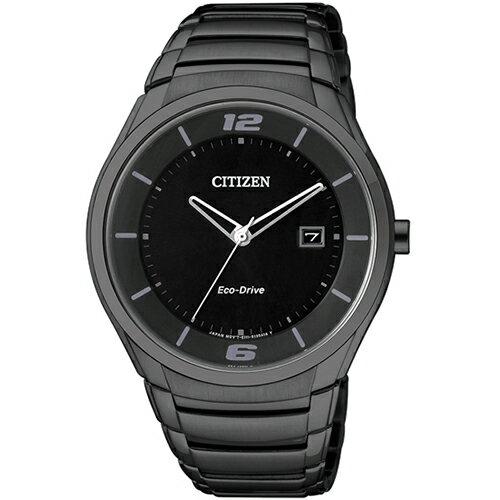 CITIZEN星辰BM6959-55E炫黑運動風光動能腕錶/黑面40mm