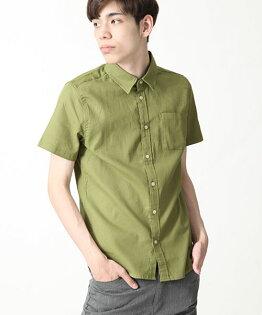 短袖透氣襯衫OLIVE
