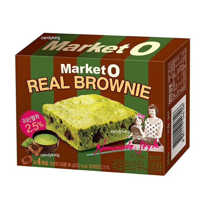 韓國 Market O 抹茶巧克力布朗尼 4入裝 莎莎推薦 必買零食