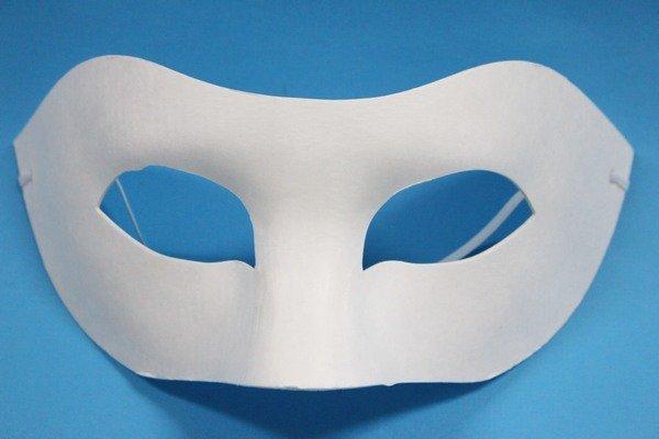 半罩面具 彩繪面具 空白面具 紙漿面具 DIY面具 臉譜 歌劇魅影(附鬆緊帶)/一袋50個入{定40}