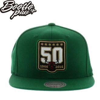 BEETLE MITCHELL&NESS NBA BULLS 芝加哥 綠 公牛 5O周年 刺繡 SNAPBACK 後扣帽 MN-398