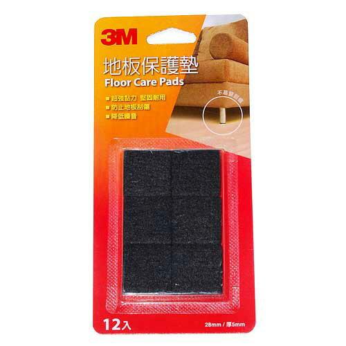 3M 地板保護墊(方型黑色28mm)