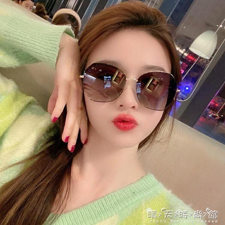 墨鏡女新款韓版潮防紫外線偏光ins太陽鏡女大臉顯瘦眼鏡  聖誕節狂歡購