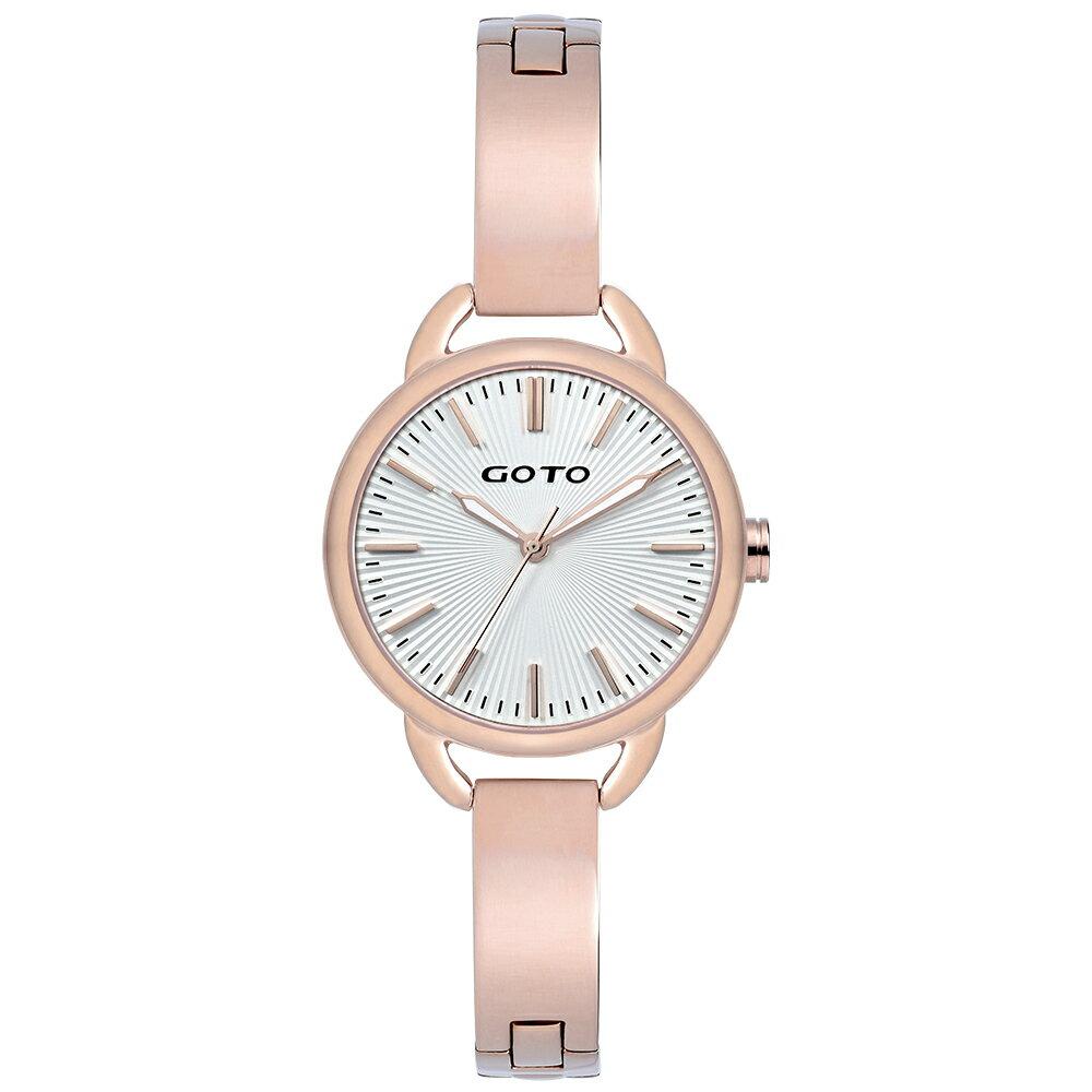 【易奇網】GOTO Sugar Lady 時尚腕錶-IP玫瑰金錶殼x高雅首飾錶帶/32mm