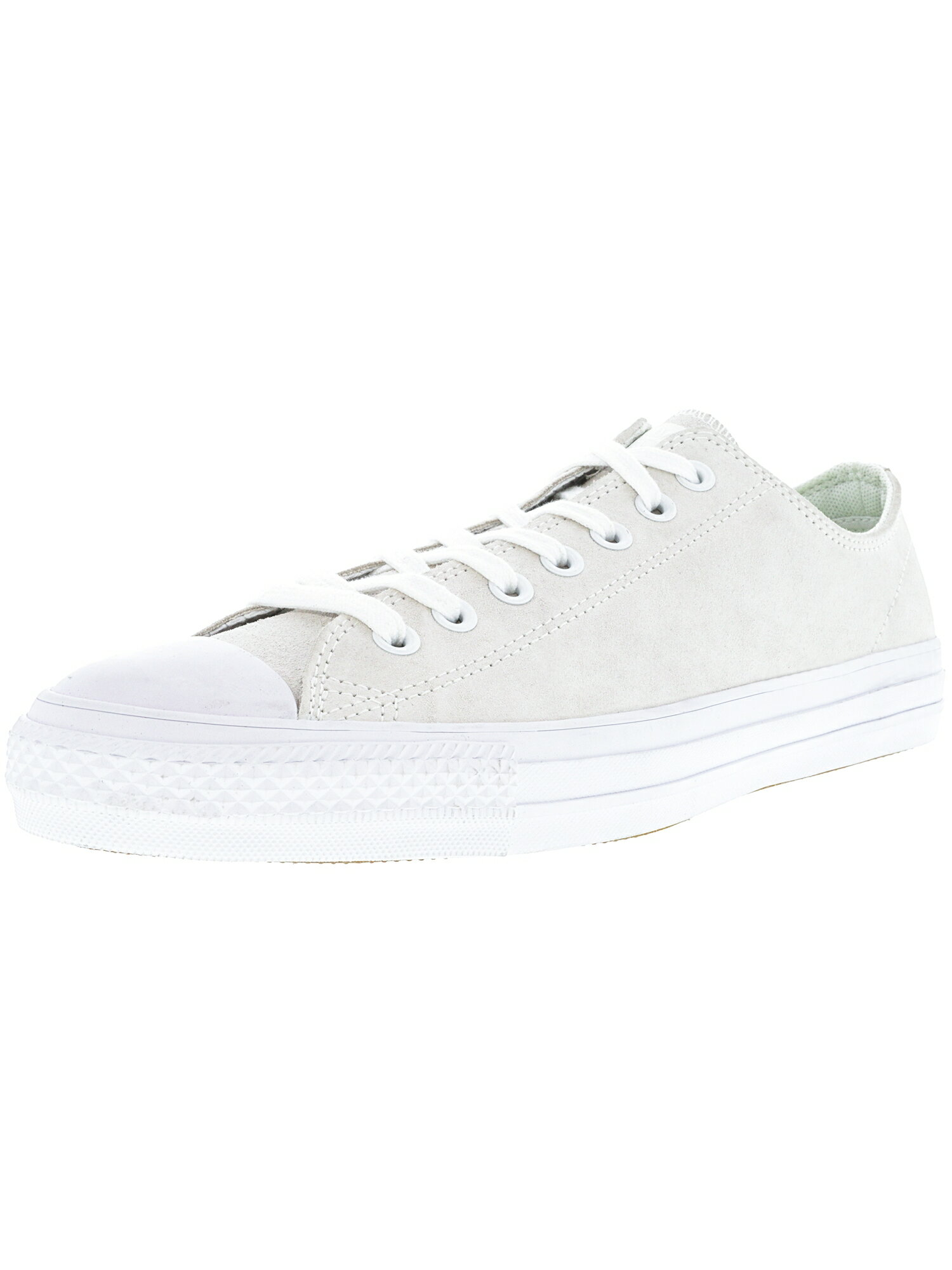 cfbcd74660fb Converse Chuck Taylor All Star Pro Ox White   Teal Ankle-High Leather  Fashion Sneaker