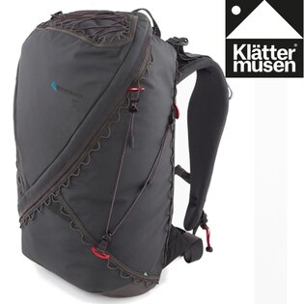 Klattermusen攀山鼠登山背包健行背包小背包運動後背包Gna25LKM40372U渡鴉黑R