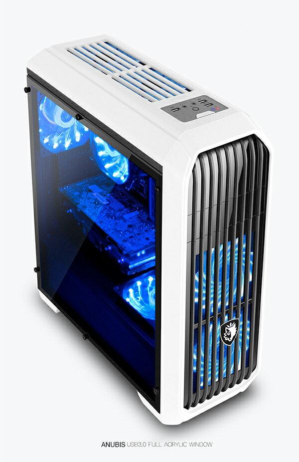 [喬傑數位]SADES ANUBIS 阿努比斯 全透側水冷電腦機箱