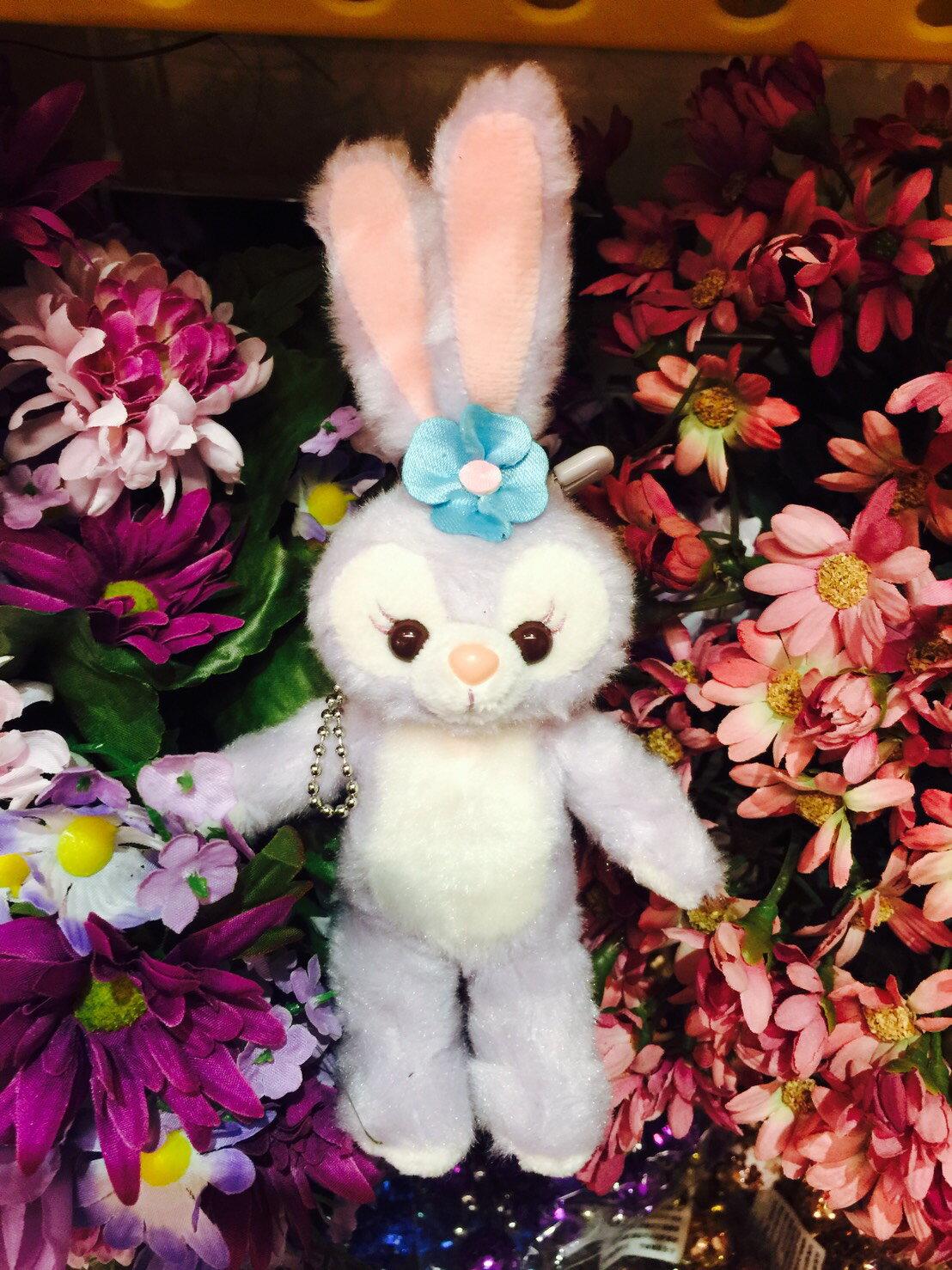 X射線【C917009】日本東京迪士尼代購-史黛拉 Stella Lou 裸身娃娃吊飾-站姿,包包掛飾/鑰匙圈/兔子芭蕾/雪莉玫/達菲/畫家