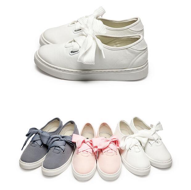 【My style】富發牌1CQ27-特殊造型大綁帶素面休閒鞋(白.灰.粉)23-25.5號-任兩雙免運