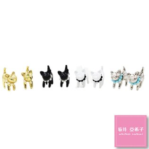 『坂井.亞希子』立體珍珠小貓咪耳環