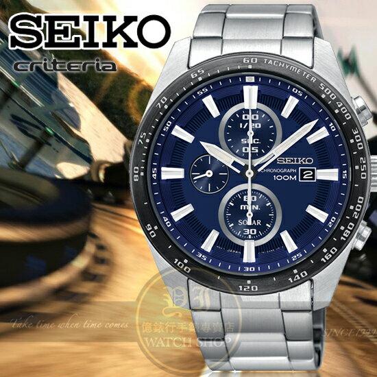 SEIKO日本精工criteria極限挑戰計時腕錶V176-0AV0BSSC647P1公司貨