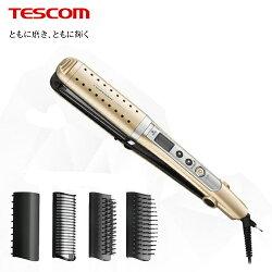 【TESCOM】負離子多功能整髮器 香檳金(TTH2610)【三井3C】