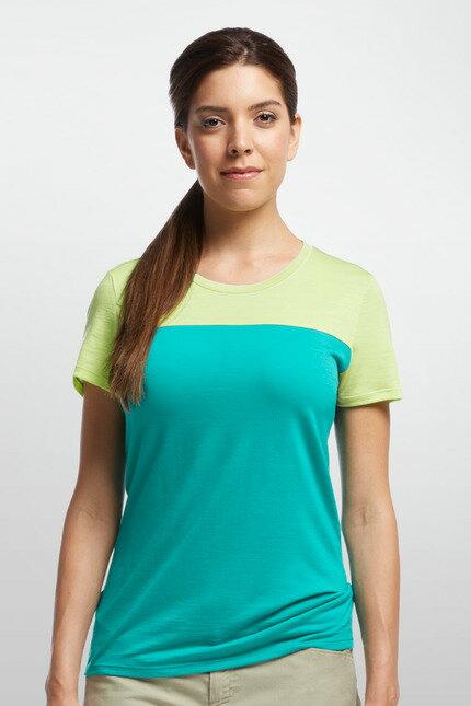 《台南悠活運動家》 ICEBREAKER 紐西蘭 女撞色圓領短袖上衣 JN150 IB102255