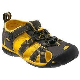 《台南悠活運動家》 KEEN 美國 兒童運動涼鞋 黑/黃  1010102