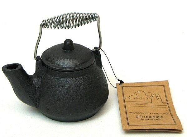 《台南悠活運動家》 OLD MOUNTAIN 美國 MTK鑄鐵水壺-附提把 0.4L 10179