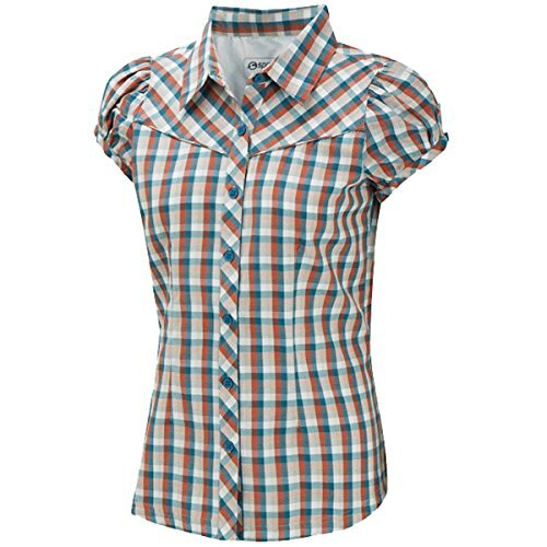 《台南悠活運動家》SPRAYWAY 英國 Akiri 阿綺麗 女格紋短袖襯衫 3185