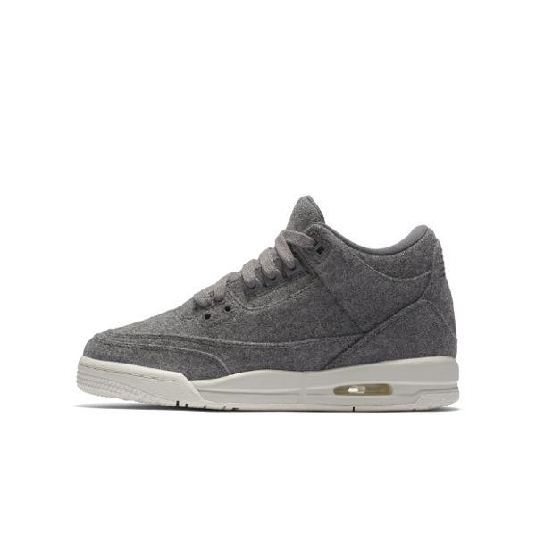 《限時特價↘6折免運》 Nike Air Jordan 3 RETRO WOOL BG 女鞋 籃球鞋 羊毛 奶油底 灰 白 【運動世界】 861427-004