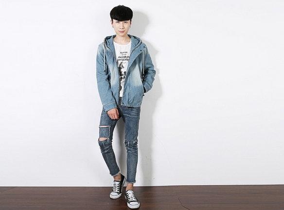 【JP.美日韓】 牛仔夾克 立領夾克 風衣牛仔 高磅數 質感 外套 牛仔外套 韓國男裝