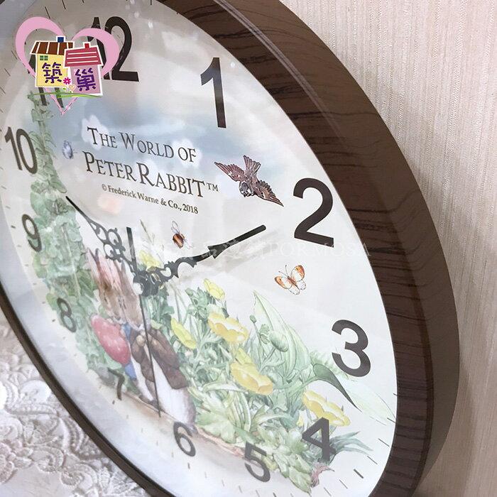 ⚡快速出貨⚡《正版授權》Peter Rabbit 彼得兔班傑明超靜音時鐘  仿木紋框田園鄉村風牆面掛鐘 客廳房間壁鐘 【築巢傢飾】